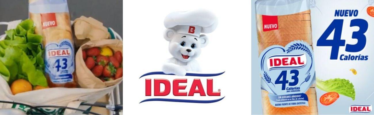 Ideal lanza innovadora propuesta de pan blanco con solo 43 calorías por rebanada